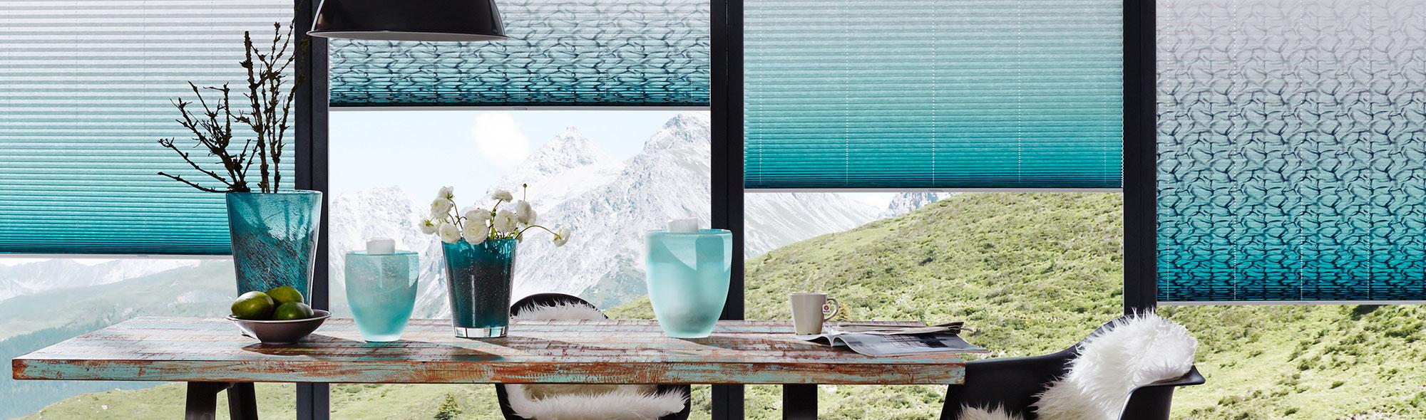 Plissees<br />Individuelle Gestaltung Ihrer Fenster